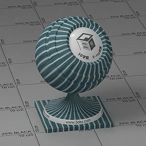 青绿色条纹墙布Vary材质球球