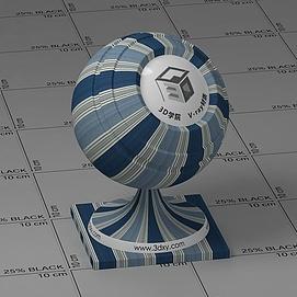 蓝灰色墙布Vary材质球球