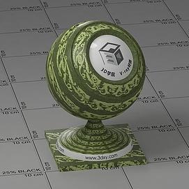 绿色花布Vary材质球球