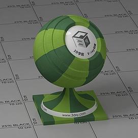 绿色条纹布Vary材质球球