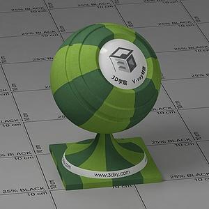 綠色條紋布Vary材質球球