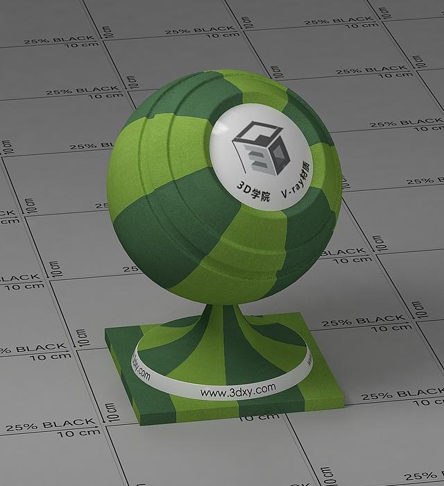 綠色條紋布vray材質球