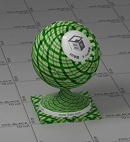 绿色格子vray材质