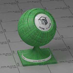 綠色花布Vary材質球球