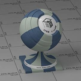 米蓝条纹布Vary材质球球