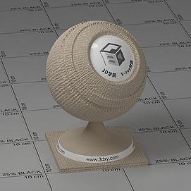 米色凹痕布Vary材质球球
