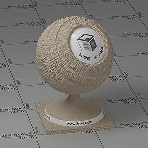 米色凹痕布Vary材質球球
