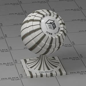 米色条纹墙布Vary材质球球