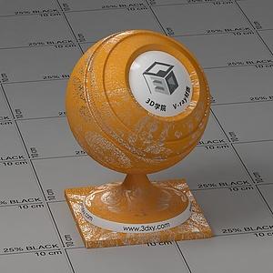 黄色墙纸Vary材质球球