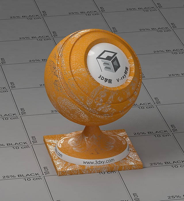 黃色墻紙vray材質球
