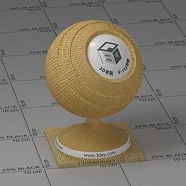 黄色纱布Vary材质球球