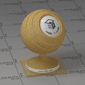 黃色紗布Vary材質球球