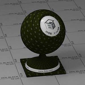 深绿色花布Vary材质球球
