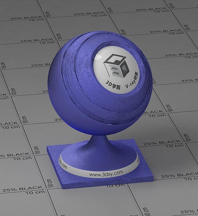 藍色絲綢vray材質球