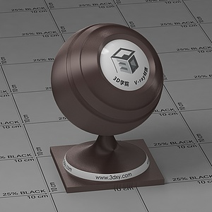 棕褐色絲綢Vary材質球球