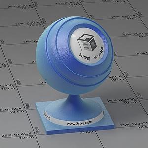 蓝色丝绸Vary材质球球