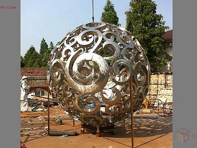 【建模技巧】鏤空球體雕塑建模的制作過程