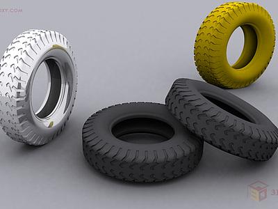 【建模技巧】3dmax制作簡單汽車輪胎
