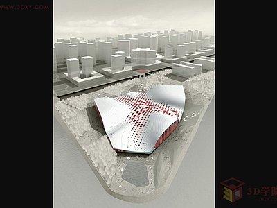 【建模技巧】3DMAX利用Poly制作異形建筑