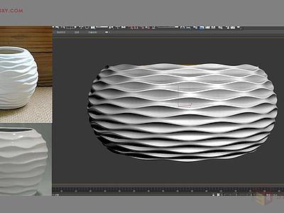 【建模技巧】如何用3DMAX制作簡單的波浪紋造型花盆