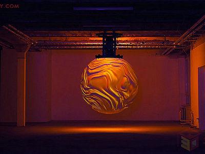 【裝置靈感】虛無縹緲的360度球體投影雕塑裝置