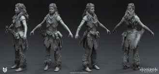 游戲《地平線:黎明時分》美術作品人物角色和機械獸概念設計