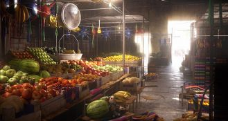 水果市場場景制作解析