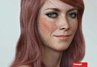 Maya制作CG極致寫實女性角色肖像模型圖文教程