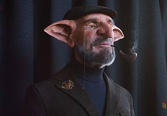 制作一個電影《哈利波特》中的角色哥布林模型Zbrush