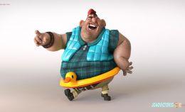 如何制作一幅《快乐的海盗》三维角色静帧作品