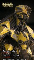 用zbrush制作一个机器人三维模型静帧作品