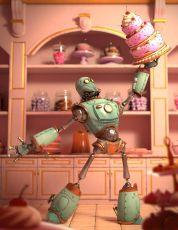 快乐的蛋糕机器人制作流程解析