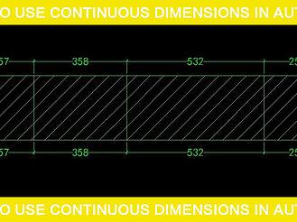 如何使用AutoCAD中的連續標注