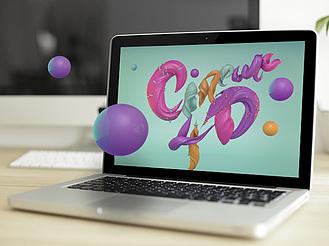 C4D巧用甜美肌理制作3D炫酷藝術字