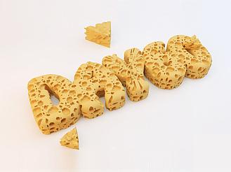 C4D制作創意奶油文字效果