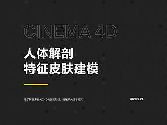 Cinema 4D人體解剖特征皮膚建模