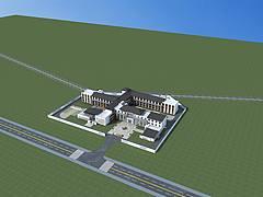 中式養老院3D模型