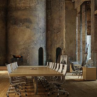 豪华特色会议室整体模型