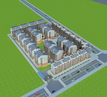 多层建筑小区