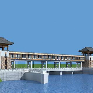 水库机房整体模型