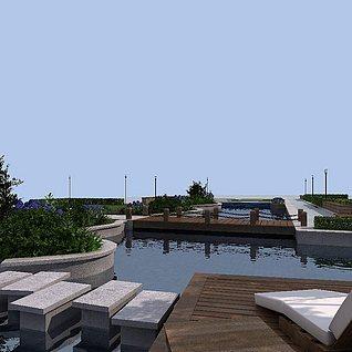 室外景观3d模型