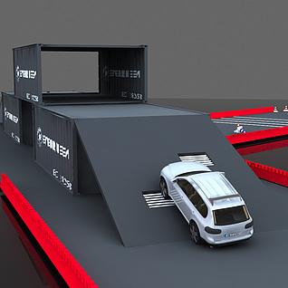 汽车站整体模型