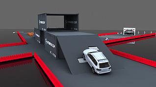 汽车站3d模型