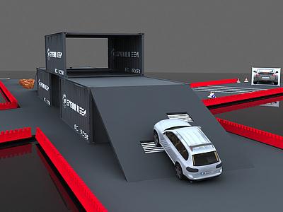 <font class='myIsRed'>汽車</font>站整體模型