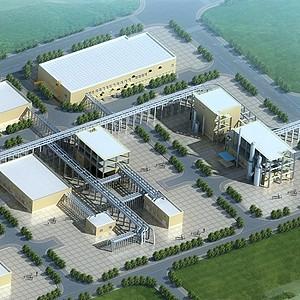 景觀廠房3d模型