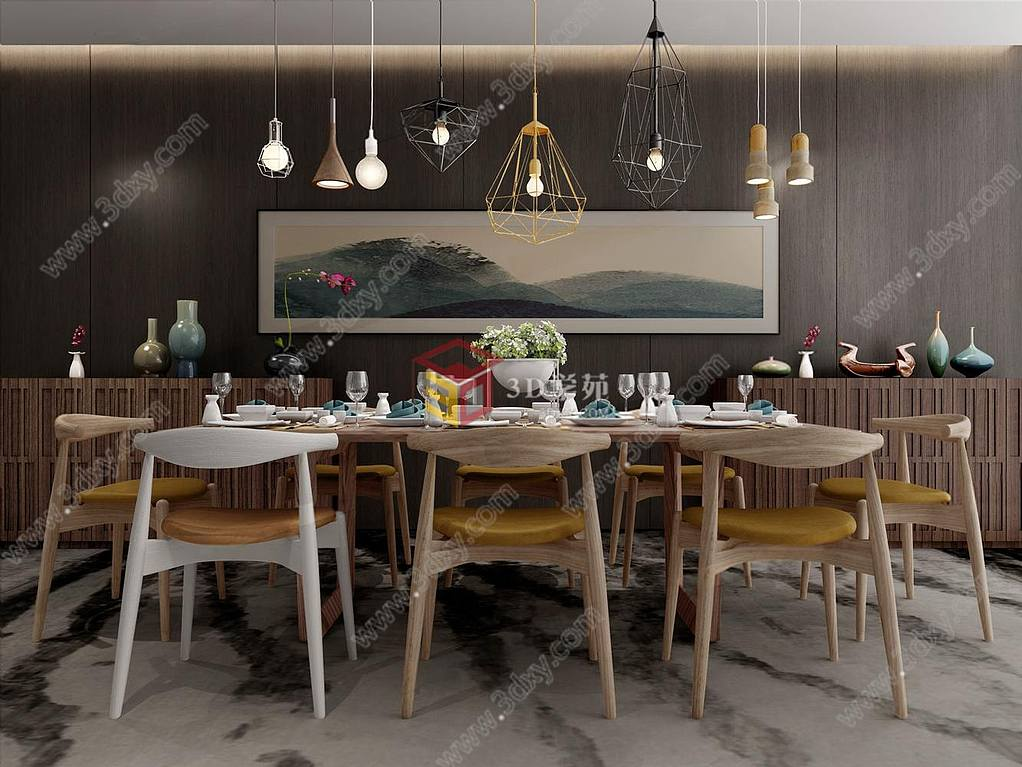 现代工业loft餐厅