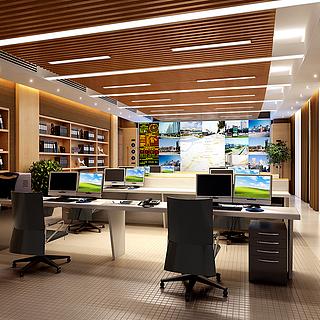 现代风格办公室整体模型