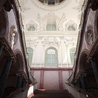 欧式建筑楼梯整体模型