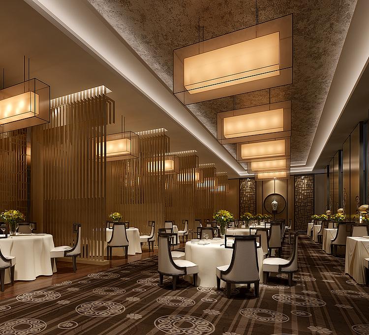 现代时尚餐厅模型