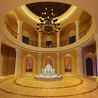 现代豪华大厅大堂整体整体模型